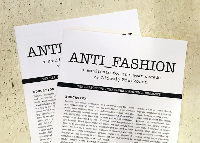 The Anti Fashion Manifesto