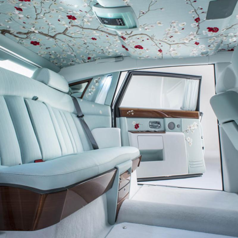 Japanese Designs, Silk Interiors Of The Rolls Royce Serenity